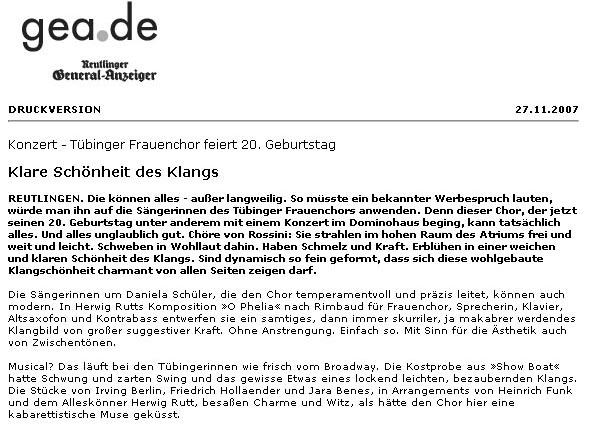 Reutlingen, 25.11.2007